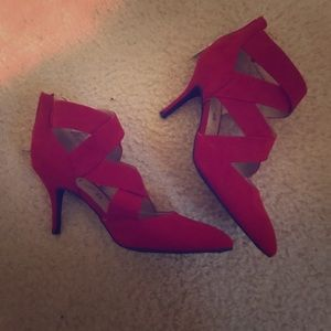 Bright red fun heels!